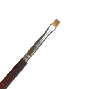 one stroke brush brown